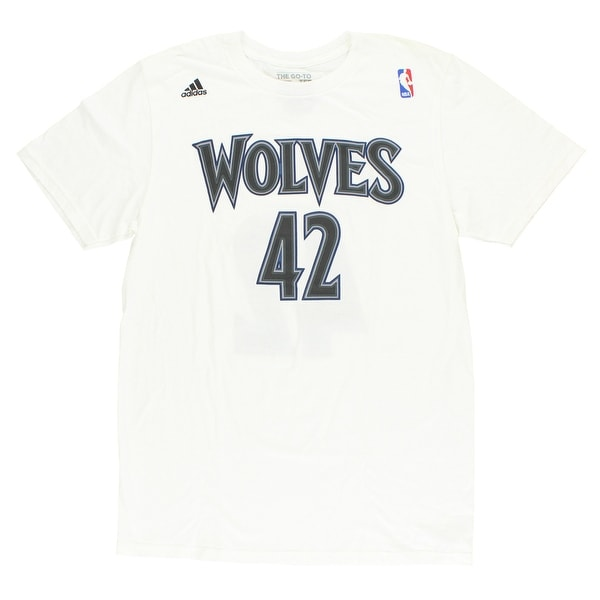 58faf7fff Shop Adidas Mens Minnesota Timberwolves NBA Kevin Love T Shirt White - White Grey Blue  - Free Shipping On Orders Over  45 - Overstock - 22615498