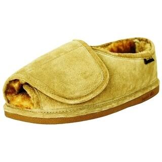 Old Friend Slippers Mens Sheepskin Fleece Step-In Chestnut 421182