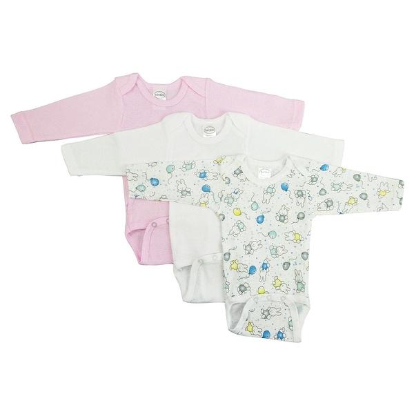 Bambini Girls' Long Sleeve Printed Bodysuit Variety Pack - Size - Large - Girl