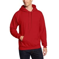 Hanes Red Mens Large L Pullover Pocket Drawstring Hooded Sweater
