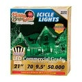 Holiday Bright Lights LEDBX-M8IC70-WW Christmas Commercial M8 LED Icicle Light, Warm White - Thumbnail 0
