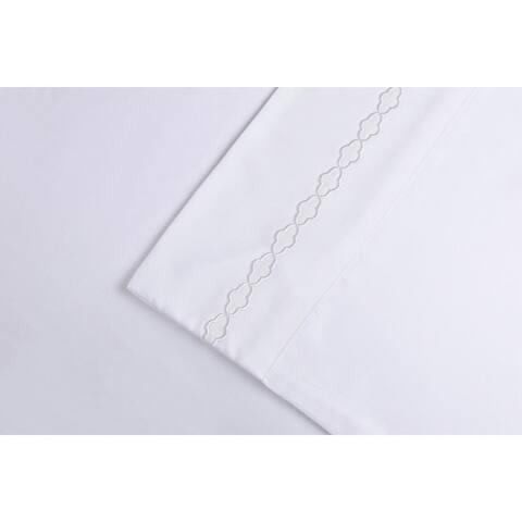 Superior Wrinkle-resistant Embroidered Microfiber Bed Sheet Set