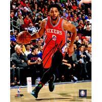 Jahlil Okafor Philadelphia 76ers Red Jersey Dribbling 8x10 Photo