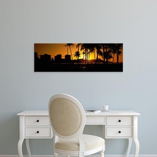 Easy Art Prints Panoramic Images's 'Oahu, Hawaii, USA' Premium Canvas Art
