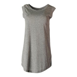 Alternative Womens Cotton Cap Sleeves Pullover Top