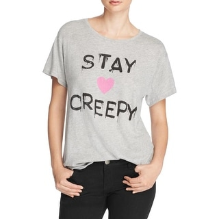 Wildfox Couture Womens Casual Top Stay Creepy Graphic