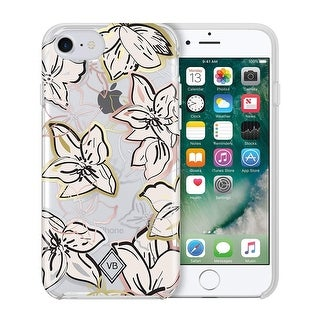 Vera Bradley Flexible Frame Case for iPhone 8 / iPhone 7 / iPhone 6, Falling Flowers Primer/Gold/Silver/Rose Gold/Clear