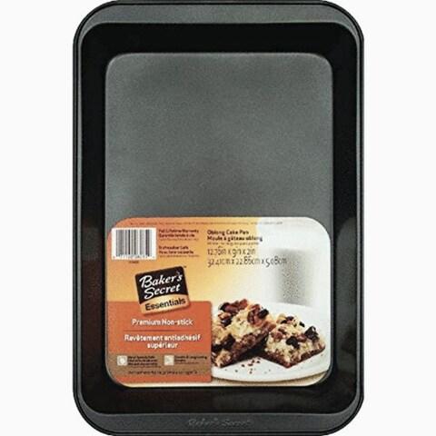"""Baker's Secret 1114424 Oblong Cake Pan, Non Stick, Gray, 13"""" x 9"""" x 2"""""""