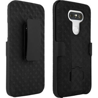 Verizon Kickstand Shell Holster Combo Case for LG G5 - Black