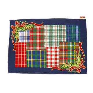 Homvare Holiday Tapestry Set of 6 Placemats - Christmas Plaid