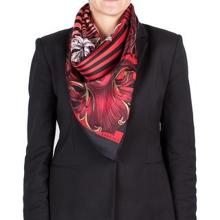 Versace Women's Baroque Zebra Striped Silk Scarf