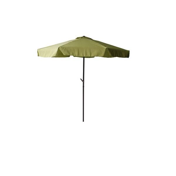 Shop Outdoor Patio Market Umbrella 7 5 Ft With Hand Crank Sage