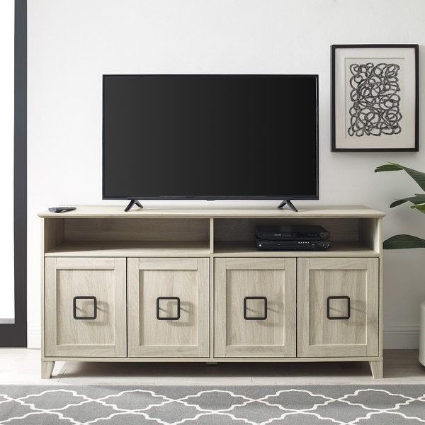 Strick & Bolton 58-inch 4-Door TV Stand Console. Opens flyout.