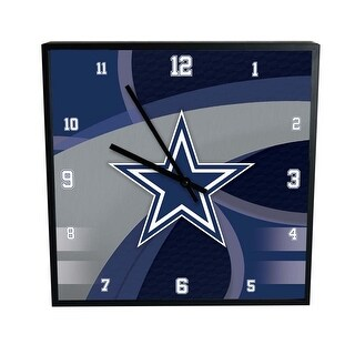 Dallas Cowboys Carbon Fiber Square Clock