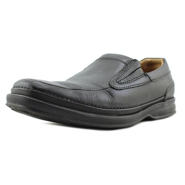 Clarks Vanek Step Men Bicycle Toe Leather Black Loafer
