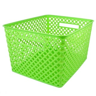 Large Lime Woven Basket