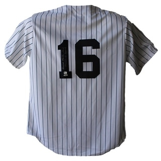 Whitey Ford New York Yankees Majestic White L Jersey Steiner