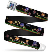 Sonic Classic Sonic Pixelated Pose Full Color Blue Sonic & Tails 3 Enemies Seatbelt Belt