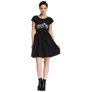 French Connection Martha Motorcycle Short Sleeve Jersey Dress Black