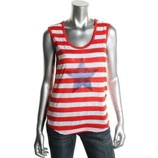C&C California Womens Knit Striped Tank Top - L