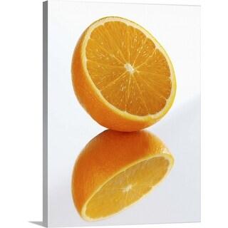 """Reflection of half orange"" Canvas Wall Art"