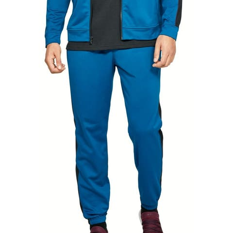 Under Armour Mens Unstoppable Track Pants Teal Blue Size XL Loose Jogger