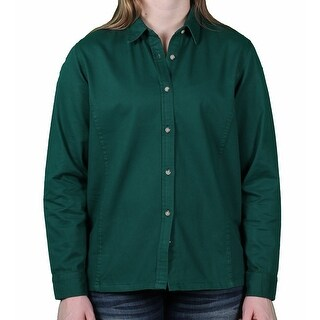 Sea Palms by Hartwell Ladies Brushed Twill Long Sleeve Blouse