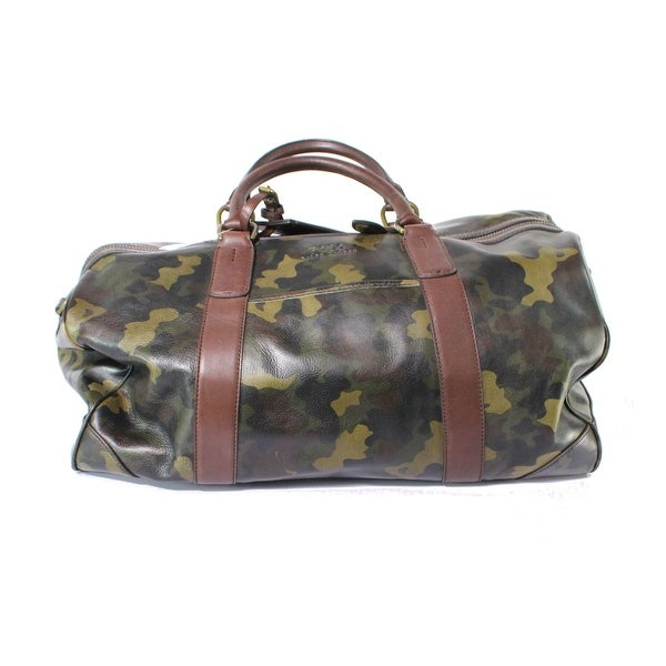 9423d422440f Shop Polo Ralph Lauren NEW Green One Size Camoflauge Leather Duffle ...