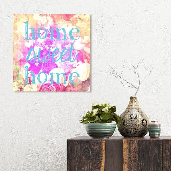 Shop Oliver Gal Home Typography And Quotes Wall Art Canvas Print Family Quotes And Sayings Blue Pink Overstock 32376538