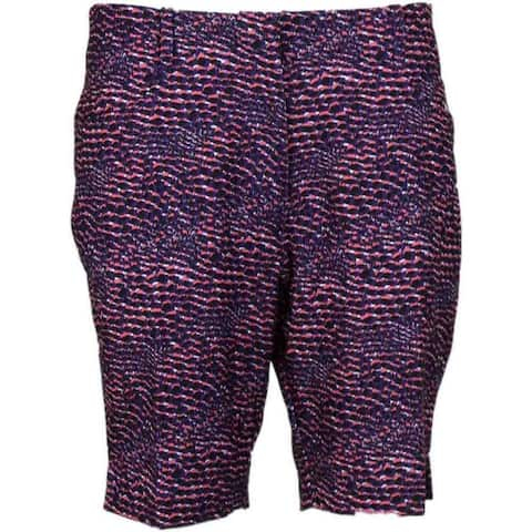 Page & Tuttle Womens Snakeskin Print Short Golf Casual Pants & Shorts Shorts