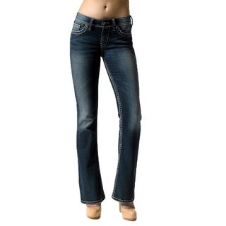Silver Jeans Denim Womens Suki Bootcut Button Zip Dark (4 options available)