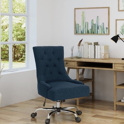 Americo Contemporary Tufted Fabric Adjustable Swivel Office Chair by Christopher Knight Home - N/A