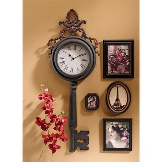 Unlocking Time Key Wall Clock DESIGN TOSCANO wall clock key clock key lock