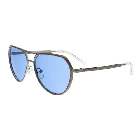 Michael Kors MK1036 121372 MADRID Silver Aviator Sunglasses - 57-15-140
