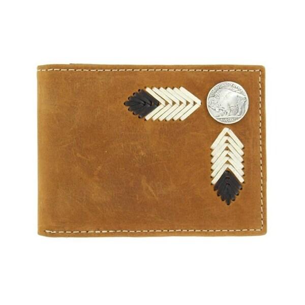 Nocona Western Wallet Mens Bifold Buffalo Nickel Saddle - One size