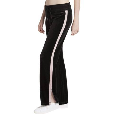 Calvin Klein Performance Women's Velour Jogger Track Pants Black Size Extra Small - X-Small