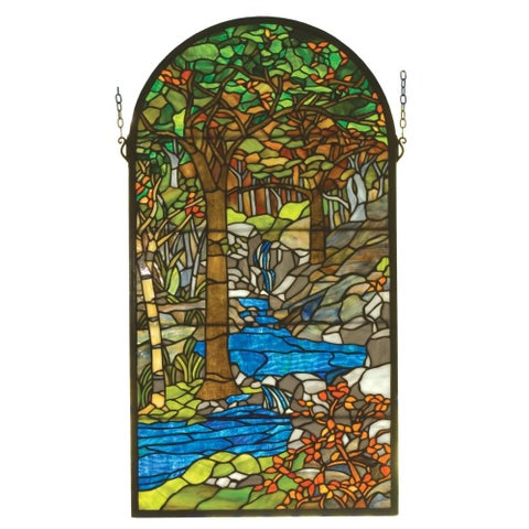 Meyda Tiffany 98255 Stained Glass Tiffany Window from the Tiffany Reproductions Collection - n/a