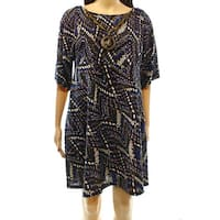 Signature by Robbie Bee Womens Large Petite Shift Dress