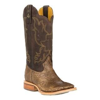 Tin Haul Western Boots Mens Printed Heel Tan 14-020-0007-0292 TA