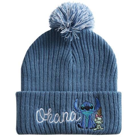 Lilo & Stitch Ohana Scrump Cuff Pom Beanie