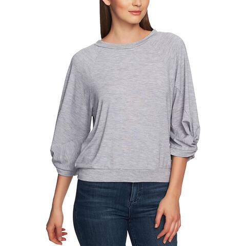 1.State Womens Pullover Top Lightweight Crew Neck