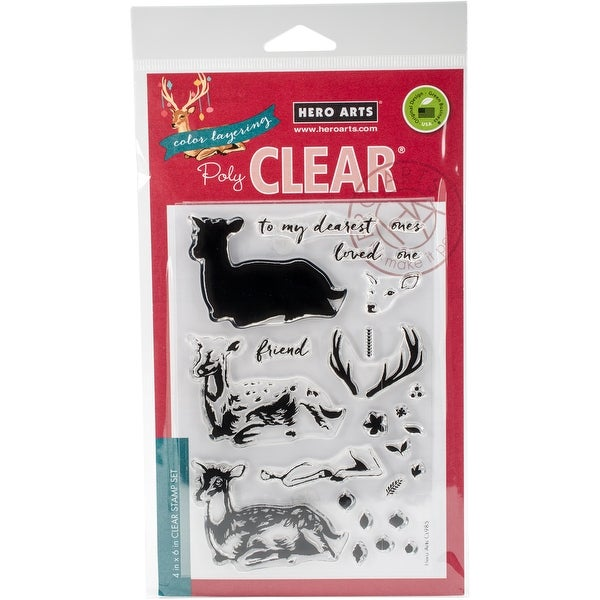 "Hero Arts Clear Stamps 4""X6""-Color Layering Deer"