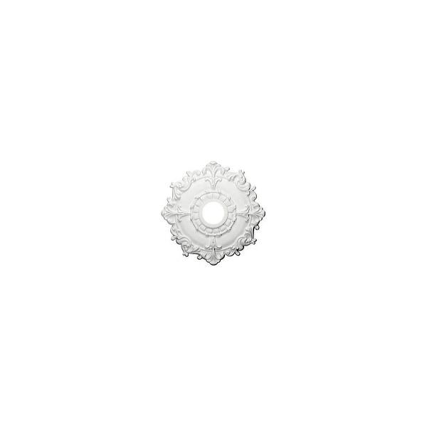 "Ekena Millwork CM18RL 18"" Wide Riley Ceiling Medallion - White - N/A"