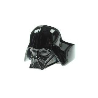 Star Wars 3D Darth Vader Stainless Steel IP Black Ring