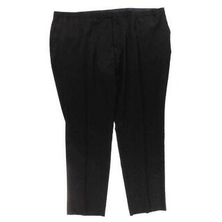 Shaquille O'Neal Mens Big & Tall Dress Pants Wool Textured - 58L