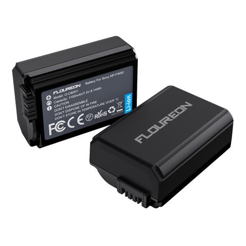 FLOUREON NP-FW50 Camera Battery for Sony A6000, A6500, A7, A7II, A7R, A7RII, A7SII, A7S, A55, A5100, RX10 IV