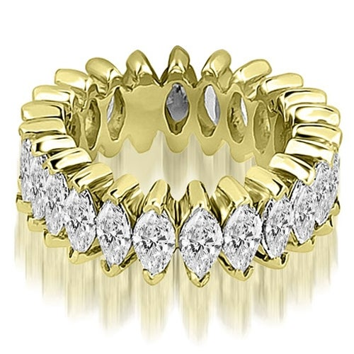 4.50 cttw. 14K Yellow Gold Marquise Diamond Eternity Ring