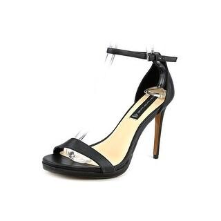 Steven Steve Madden Rykie Women Open Toe Leather Black Sandals