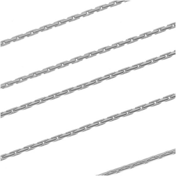 Antiqued Silver Plated Fine Snake Beading Chain 1mm Bulk By The Foot