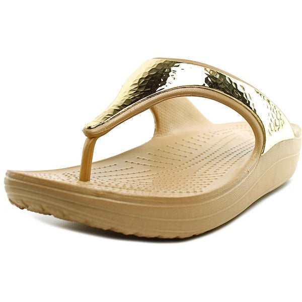 Crocs Sloane Embellished Flip Women Open Toe Synthetic Gold Flip Flop Sandal